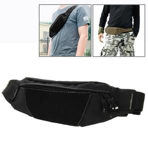 Multifunctionele Outdoor sporten met taille Pack voor mannen als Fanny Pack buiktas Hip geld Belt(Black)