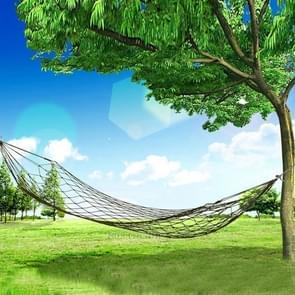 Draagbare Camping buiten Mesh Nylon hangmat - Army Green