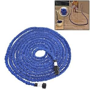 Duurzaam flexibele dubbellaags waterpijp waterslang  rekken lengte: 7 5 m (Amerikaanse Standard)(Blue)