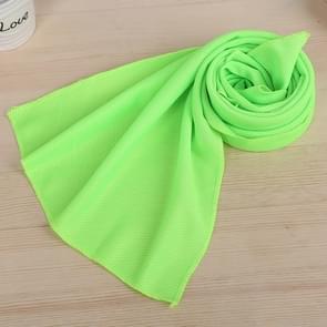 10 stuks Outdoor sporten Protable koud gevoel voorkomen zonnesteek ijs handdoek  grootte: 30*80cm(Green)