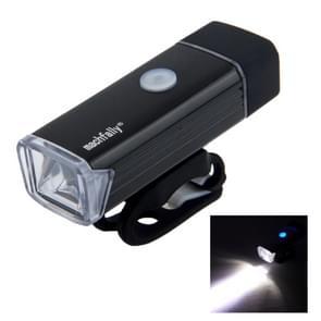 MC-QD001 180 lumen USB oplaadbare LED licht aluminium licht met stuur Mount(Black)