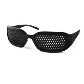 Outdoor Protective Goggles Mesh Glasses Eyes Health Care Vision Care Pinhole Glasses(Black)