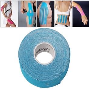 Waterdichte Kinesiologie Tape sport spieren zorg therapeutische Bandage  grootte: 5m(L) x 5cm(W)(Blue)