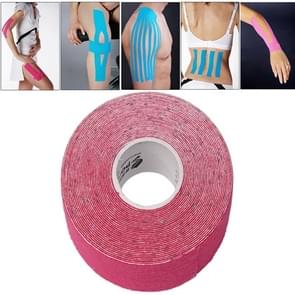 Waterproof Kinesiology Tape Sports Muscles Care Therapeutic Bandage  Size: 5m(L) x 5cm(W)(Magenta)