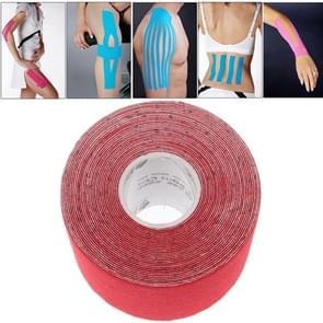 Waterdichte Kinesiologie Tape sport spieren zorg therapeutische Bandage afmeting: 5m(L) x 5cm(W)(Red)