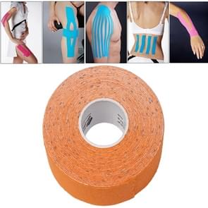 Waterproof Kinesiology Tape Sports Muscles Care Therapeutic Bandage  Size: 5m(L) x 5cm(W)(Orange)