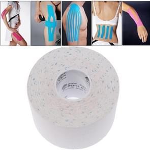 Waterdichte Kinesiologie Tape sport spieren zorg therapeutische Bandage  grootte: 5m(L) x 5cm(W)(White)
