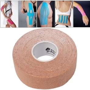 Waterproof Kinesiology Tape Sports Muscles Care Therapeutic Bandage  Size: 5m(L) x 2.5cm(W)(Apricot)