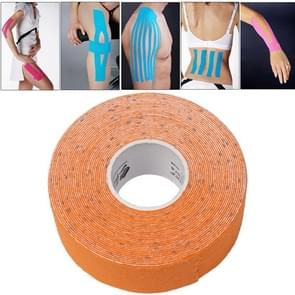 Waterproof Kinesiology Tape Sports Muscles Care Therapeutic Bandage  Size: 5m(L) x 2.5cm(W)(Orange)