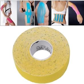 Waterproof Kinesiology Tape Sports Muscles Care Therapeutic Bandage  Size: 5m(L) x 2.5cm(W)(Yellow)