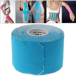 Subsection Waterproof Kinesiology Tape Sports Muscles Care Therapeutic Bandage (2.5cm x 5m)(Blue)