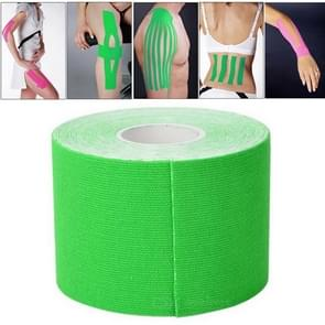 5M Waterproof Sports Tape Sports Muscles Care Therapeutic Bandage  Width: 5cm(Green)