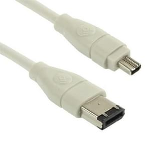 Firewire 6 pin naar 4 Pin Lead IEEE 1394 DV-out kabel  Lengte: 5 meter
