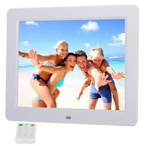 10.4 inch TFT LCD Display Multi-media Digital Photo Frame met muziek & Movie Player / Touch Control / Remote controlefunctie  ondersteuning voor USB / SD Card ingang  gebouwd in Stereo Speaker(White)