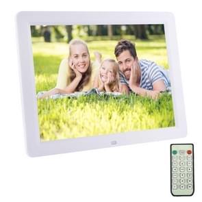 12.0-inch Digital Picture Frame met afstandsbediening ondersteuning SD / MMC / MS Card en USB  wit (1200)(White)