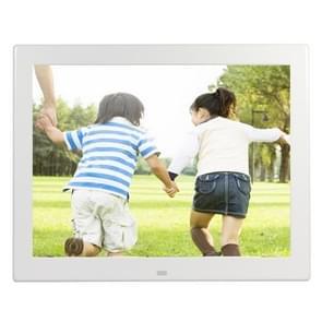 12 1 inch 800 x 600 / 4:3 CCFL scherm Suspendeerbaarheid Digitale fotolijstjes met houder & Remote Control afstandsbediening   steunen SD / MicroSD / MMC / Micro USB / USB Flash Disk(White)
