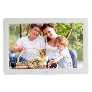 12 inch LED Display Multi-media Digital Photo Frame met houder & muziek & filmspeler  ondersteuning voor USB / SD / Micro SD / MMC / MS / XD kaart Input(White)