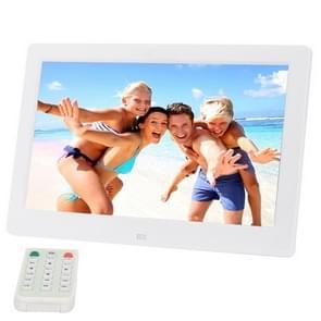 10.1 inch HD breed scherm Digital Photo Frame met houder & afstandsbediening  Allwinner E200  wekker / MP3 / MP4 / film Player(White)