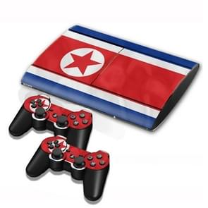 North Korean Vlag patroon Stickers voor PS3 Game Console