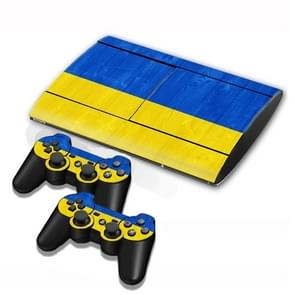 Ukrainian Vlag patroon Stickers voor PS3 Game Console