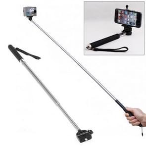 Uitschuifbare telescopische monopod voor selfies, geschikt voor camera / iPhone / Android mobiel (zwart)