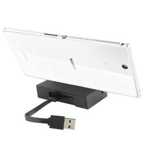 USB Laad cradle / desktop dock lader voor sony xperia z ultra / xl39h(zwart)