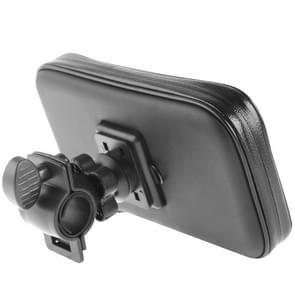 Fiets Stuur Mount houder waterdicht / zand-proof / sneeuw-bewijs / vuil-proof rits Touch tas  geschikt voor Galaxy Note III / N9000 & Mega 6.3 / i9200(Black)
