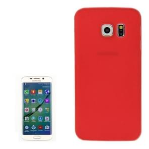 Samsung Galaxy S6 Edge transparant ultra-dun 0.3mm Polycarbonaat back cover Hoesje (rood)