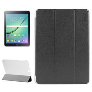 Samsung Galaxy Tab S2 9.7 / T815 horizontaal Zijde structuur PU leren ENKAY Flip Hoesje met drievouws houder en doorschijnend back cover (zwart)
