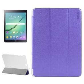 Samsung Galaxy Tab S2 9.7 / T815 horizontaal Zijde structuur PU leren ENKAY Flip Hoesje met drievouws houder en doorschijnend back cover (paars)
