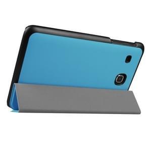 Samsung Galaxy Tab E 8.0 / T377V horizontaal Tweekleurig PU leren Flip Hoesje met drievouws houder (blauw)