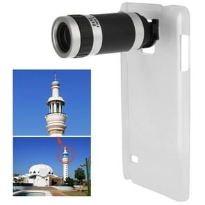 Samsung Galaxy Note 4 uniek transparant kunststof back cover Hoesje met 8x Telescoop Telefoto Lens