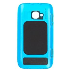 Originele behuizing batterij achterste schutblad + kant knop voor Nokia 710(Blue)