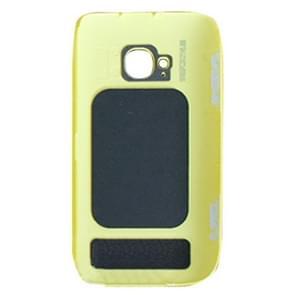 Originele behuizing batterij achterste schutblad + kant knop voor Nokia 710(Yellow)