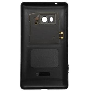 Originele behuizing batterij achterste schutblad + knop kant voor de Nokia Lumia 810(Black)