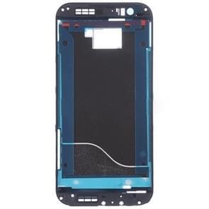 Voorzijde huisvesting LCD Frame Bezel plaat vervanging voor HTC One M8(Black)