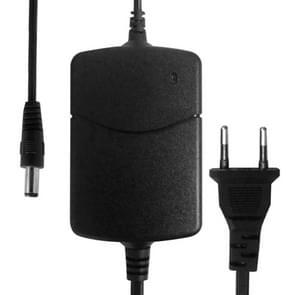 EU Plug AC Adapter 12V 2A voor CCD-camera's  Output Tips: 5.5 x 2.1mm(Black)