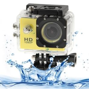 SJ4000 Full HD 1080P 1.5 inch LCD Sports Camcorder met Waterdicht hoesje, 12.0 Mega CMOS Sensor, 30m Waterdicht(geel)