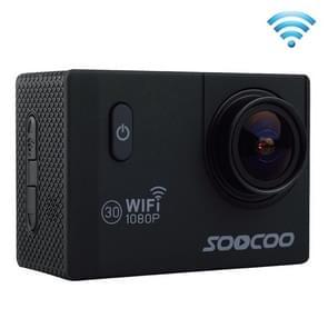 SOOCOO C10S HD 1080P NTK96655 2.0 inch LCD scherm WiFi Sports Camcorder met waterdichte behuizing, 170 graden groothoeklens, 30m waterdicht(zwart)