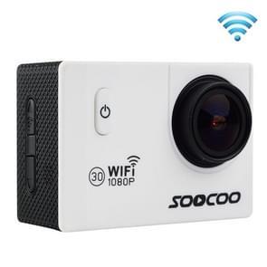 SOOCOO C10S HD 1080P NTK96655 2.0 inch LCD scherm WiFi Sports Camcorder met waterdichte behuizing, 170 graden groothoeklens, 30m waterdicht wit