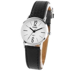 Dial vrouwen Quartz lederen horloge wit / paar van horloge (8062)