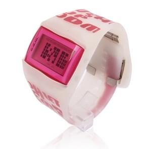 Fashion Digital LED Wrist Watch with Silicone Band (Pink)