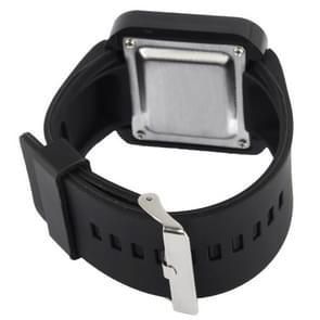 Stijlvolle Unisex aanraakgevoelige scherm elektronische LED Watch Polshorloge Timepiece met siliconen Band (zwart)