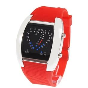 Sport blauw & rood licht LED Digital horloge / horloge-uurwerk met datum (rood)