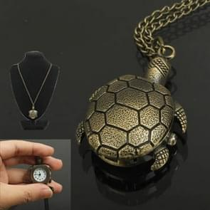 Classical Sea Turtle Shape Copper Chain Pocket Watch