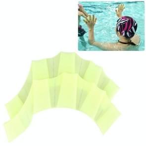 Samll grootte vinger flexibele siliconen zwemmen Gloves(Green)