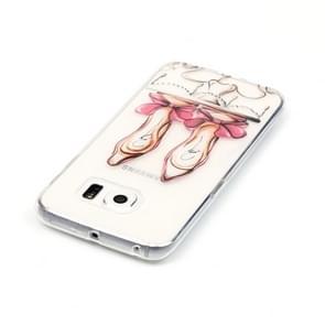 Samsung Galaxy S6 Edge / G925 Glossy hoge hakken patroon TPU back cover Hoesje