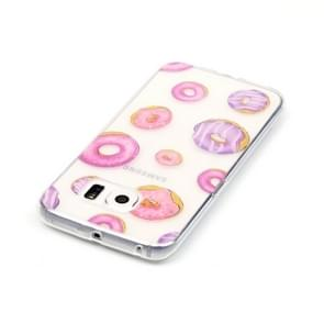Samsung Galaxy S6 Edge / G925 Glossy donuts patroon TPU back cover Hoesje