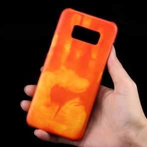Samsung Galaxy S8 Thermisch aanraakgevoelig en kleurveranderend back cover Hoesje (Oranje)