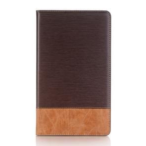 Voor Galaxy Tab een 8.0 (2017) / T385 Kruis textuur horizontale Flip Case Cover met kaartsleuven & houder & portemonnee (koffie)